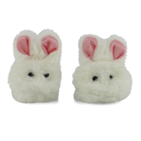 18-inch Doll Shoes - Fluffy Bunny Slippers - fits American Girl ® Dolls