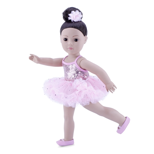6a0a0e86b16f 18-Inch Doll Clothes - Ballerina Outfit with Black Unitard