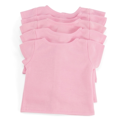 18-inch Doll Clothes - Set of 5 Pastel Pink T-Shirts - fits American Girl ® Dolls