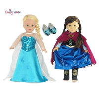 18-inch Doll Clothes - Princess Elsa and Anna Inspired Outfit Set - fits American Girl ® Dolls