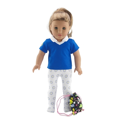 18-Inch Doll Clothes - Daisy Girl Scout-Inspired Accessory Bundle - fits American Girl ® Dolls