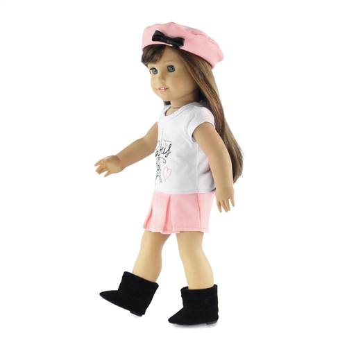 """18/"""" Doll Clothes Pink Base Ball Hat Fits American Girl Dolls Our Generation"""