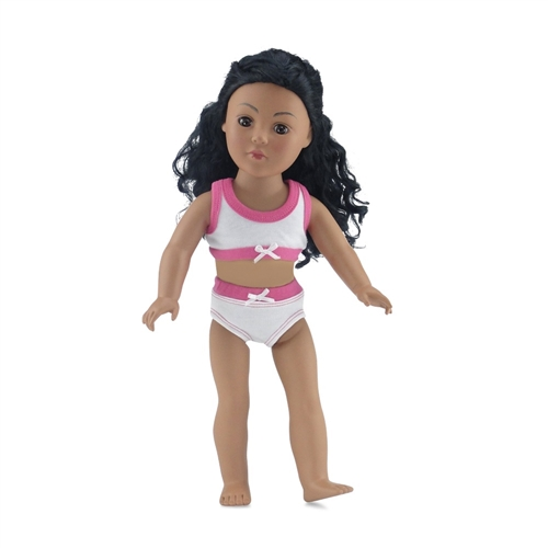"""HOT PINK Doll Sports Bra fit 18/"""" American Girl Doll"""