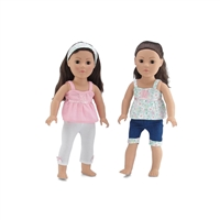 18-Inch Doll Clothes - Vintage Mix and Match Summer Outfit Set - fits American Girl ® Dolls