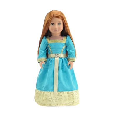 18-Inch Doll Clothes - Merida-Inspired Princess Ball Gown Outfit - fits American Girl ® Dolls