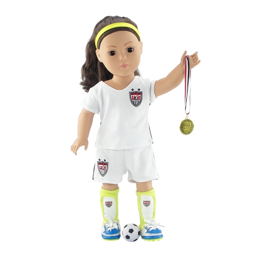 "BALL 18 Inch Dolls SOCCER SHOES BLACK SOCKS fits 18/"" American Girl Doll"