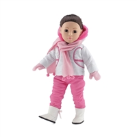 18-inch Doll Clothes - Winter Snow Outfit with T-Shirt, Scarf, Mittens, and Boots - fits American Girl ® Dolls