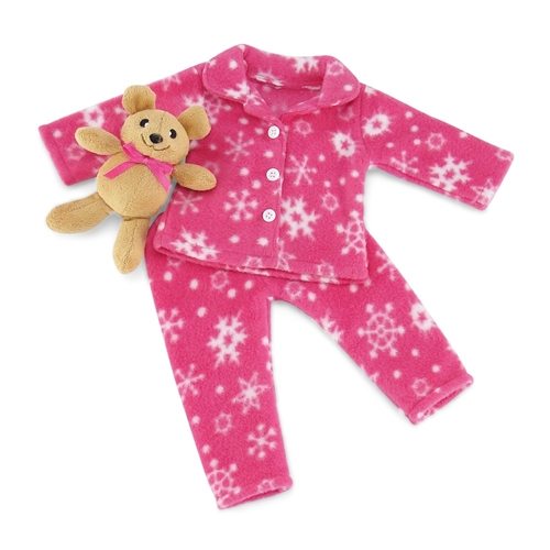 Snowflake Pajama Set 18 in Doll Clothes Fits American Girl