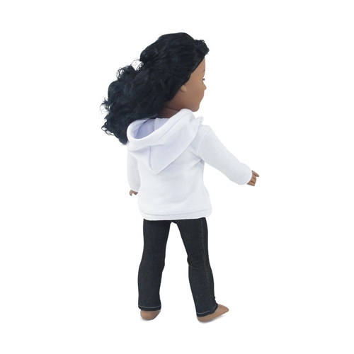 White T-Shirt w// Pants Trousers for 18/'/' Doll Dress up Casual Outfits
