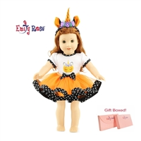 18-Inch Doll Clothes - Halloween Unicorn Outfit with Headband - fits American Girl ® Dolls