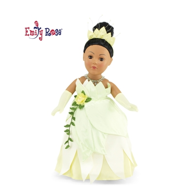 18 Inch Doll Clothes - Princess Tiana-Inspired Ball Gown and Accessories - fits American Girl ® Dolls
