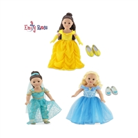 18-inch Doll Clothes - Fabulous Princess Dress Value Bundle - fits American Girl ® Dolls