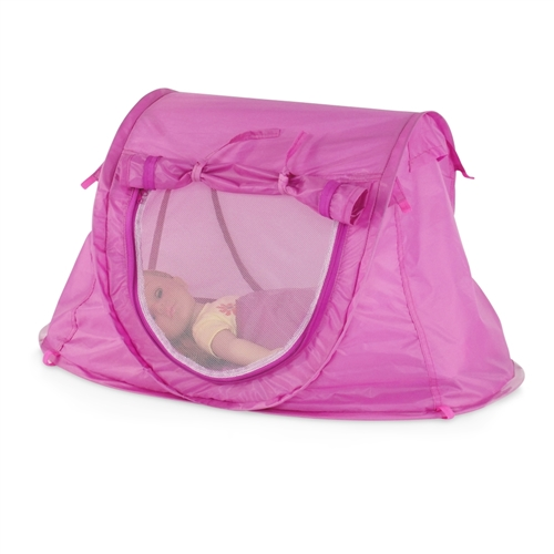18-inch Doll Accessories - Orchid Pink Pop-Up Tent and Sleeping Bag with Carry Case - fits American Girl ® Dolls  sc 1 st  Emily Rose Doll Clothes & 18-inch Doll Accessories - Orchid Pink Pop-Up Tent and Sleeping ...