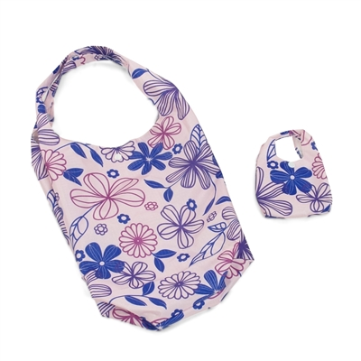 18-inch Doll Accessories - Lavender Floral Doll Carrier Bag plus Shopping Handbag and Chain - fits American Girl ® Dolls