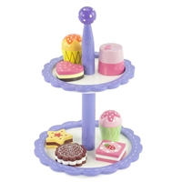 18-inch Doll Accessories - Painted Wood Bakery Cake Set with Tower - fits American Girl ® Dolls