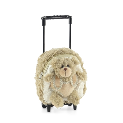 18-inch Doll Accessories - Doll Backpack with Trolley and Detachable Teddy Bear - fits American Girl ® Dolls