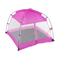 18 Inch Doll Accessories - Pink Dining Canopy Camping Tent with Case - fits American Girl ® Dolls