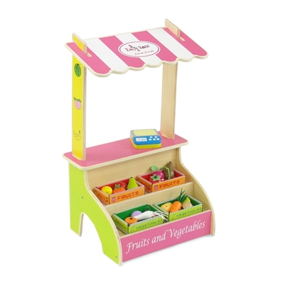 18-inch Doll Furniture - Fruit and Vegetable Stand with Accessories - fits American Girl ® Dolls