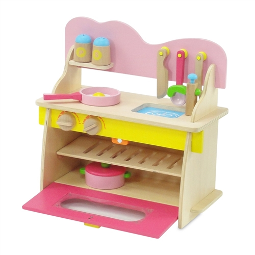 18 Inch Doll Furniture Multicolored Wooden Kitchen Set With Accessories Fits American Girl Dolls