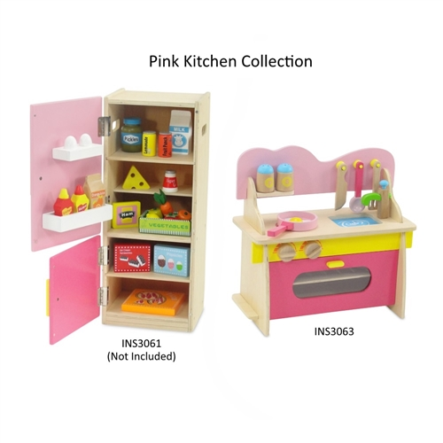 Exceptional 18 Inch Doll Furniture   Multicolored Wooden Kitchen Set With Accessories    Fits American Girl ® Dolls