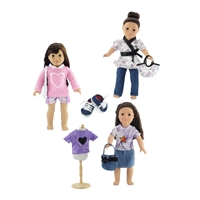 18-Inch Doll Clothes - 3 Outfits Casual Clothing Sets - fits American Girl ® Dolls