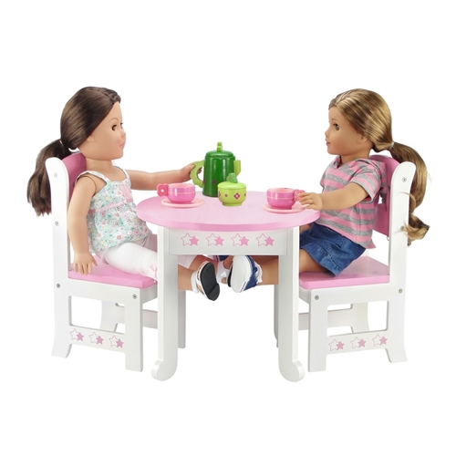 18 Inch Doll Furniture Star Collection Table And 4 Chair Dining