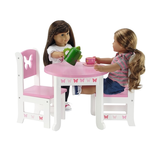 18 Inch Doll Furniture Butterfly Collection Table And 4 Chair