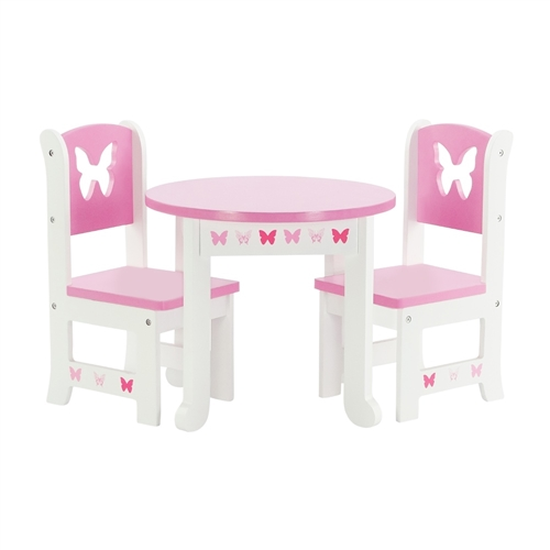 18 Inch Doll Furniture   Butterfly Collection Table And 4 Chair Dining Set    Fits American Girl ® Dolls