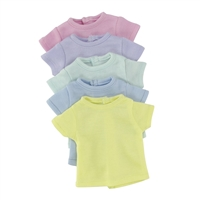 14-inch Doll Clothes - Set of 5 Rainbow/Different Color T-Shirts - fits Wellie Wishers ® Dolls