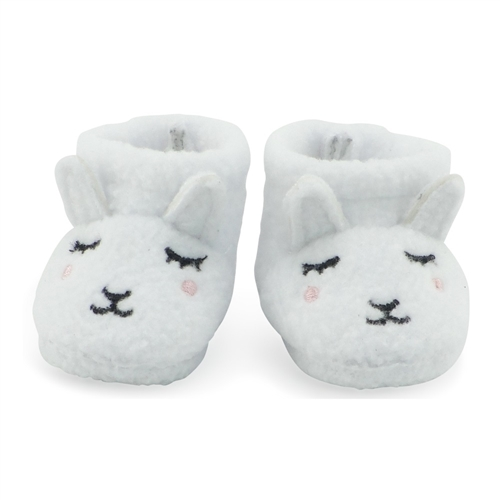 """White Fuzzy Slippers Fits Wellie Wishers 14.5/"""" American Girl Clothes Shoes"""