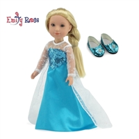 14-inch Doll Clothes - Princess Elsa Frozen Inspired Dress - fits Wellie Wishers ® Dolls