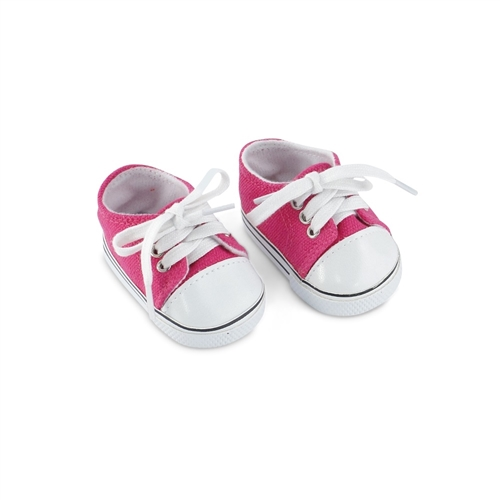 """Tennis Shoes Red Canvas Sneakers fit 14/"""" Wellie Wishers Doll"""