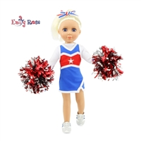 14-inch Doll Clothes - Cheerleader Outfit with Pom Poms and Gym Shoes - fits American Girl ® Dolls