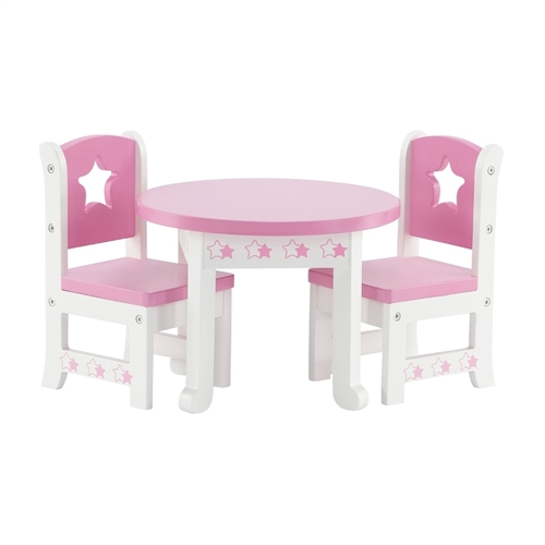 14 Inch Doll Furniture   Star Collection Table And 2 Chair Dining Set    Fits American Girl ...