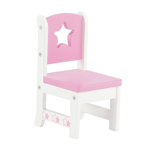 Beau 14 Inch Doll Furniture   Star Collection Table And 2 Chair Dining Set    Fits American Girl ® Wellie Wishers Dolls