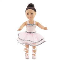 18-inch Doll Clothes - Ballerina Outfit with Pale Pink Leotard plus Tutu - fits American Girl ® Dolls