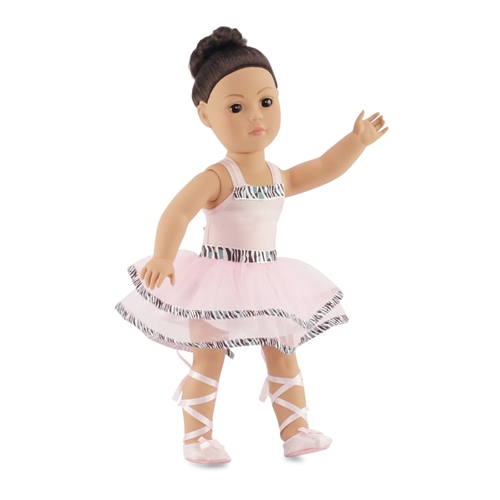 eb12ad5e2 18-inch Doll Clothes - Ballerina Outfit with Pale Pink Leotard plus Tutu ...