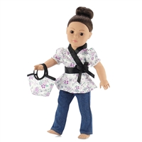 18-inch Doll Clothes - Tunic and Skinny Jeans with Purse - fits American Girl ® Dolls