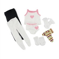 18-inch Doll Clothes - Socks, Tights, and Panties with Undershirt - fits American Girl ® Dolls