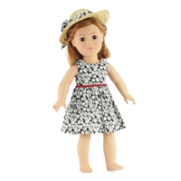 18-inch Doll Clothes - Tank Dress with Straw Hat - fits American Girl ® Dolls