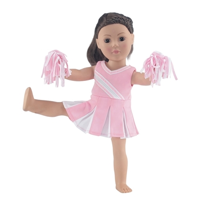 18-inch Doll Clothes - Cheerleader Outfit with Pom Poms - fits American Girl ® Dolls