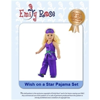 18-Inch Doll Clothes Pattern - Wish on A Star - Downloaded to your computer