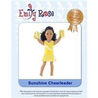 18-Inch Doll Clothes Pattern - Sunshine Cheerleader - Downloaded to your computer