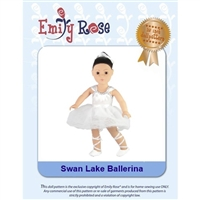 18-Inch Doll Clothes Pattern - Swan Lake Ballerina - Downloaded to your computer