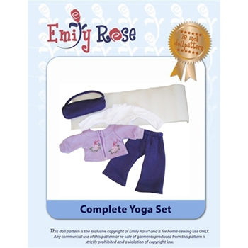 18-Inch Doll Clothes Pattern - Complete Yoga Set - Downloaded to your computer