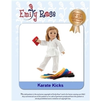 18-Inch Doll Clothes Pattern - Karate Kicks - Downloaded to your computer