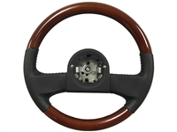 Volante OE Series 1984-89 C4 Corvette Black Leather, Mahogany Finished Wood Steering Wheel, 9768988