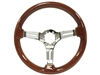S6 , Sport , Mahogany , Wood , Steering Wheel , Chrome Center , Brown , Auto Pro USA , GM , MOPAR , FORD , Corvette , Mustang , Charger , Challenger , Camaro , El camino , Impala , bel air , nova , chevy II , oldsmobile , firebird , bronco , vw ,