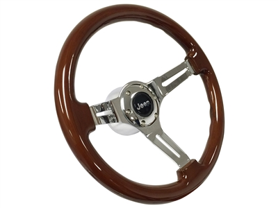 Jeep Mopar Mahogany Finished Wood Steering Wheel kit