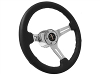Auto Pro USA , Volante , Ford , Steering Wheel , Kit , Black , Sport , Chrome , Mustang , Running Pony , Late model , #FordMustang